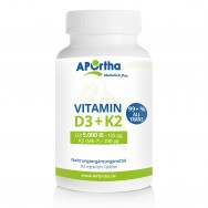 Vitamin D3 5.000 IE + Natto Vitamin K2 MK-7 200 µg - 365 Tabletten