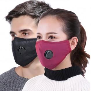 Community Mund- und Nasen Stoffmaske - rot